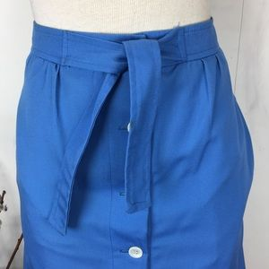 Vintage Skirts - Deep Sky Blue Anne Klein for Penfold A-Line Skirt